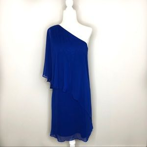 NWT VINCE CAMUTO Ruffled One-Shoulder Shift Dress
